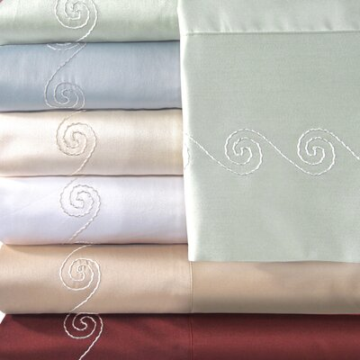 Supreme Sateen 500 Thread Count Swirl Pillowcase by Veratex
