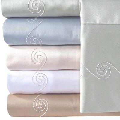 Supreme Sateen 300 Thread Count Swirl Pillowcase by Veratex