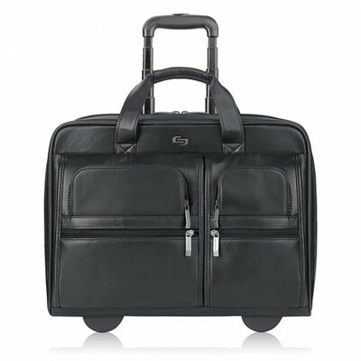 Classic Leather Laptop Briefcase by Solo Cases