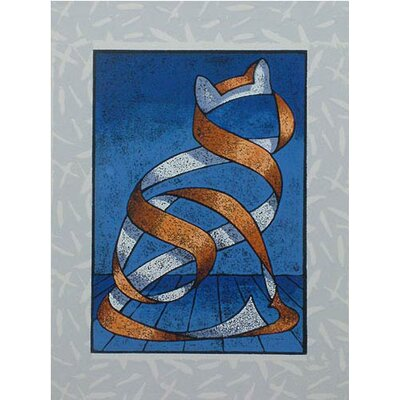 Novica Seated Cat Wall Art by Ricardo Siccuro Graphic Art on Canvas