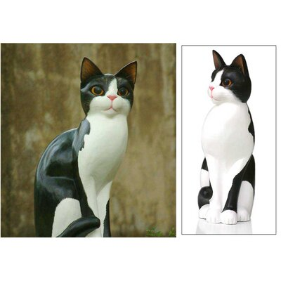 Novica Housecat Figurine