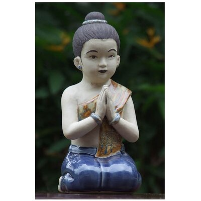 Thai Sawasdee Girl Figurine by Novica