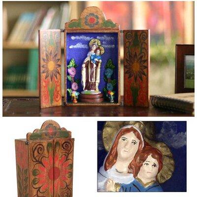 Novica 'Our Lady of Mount Carmel' Retable Figurine