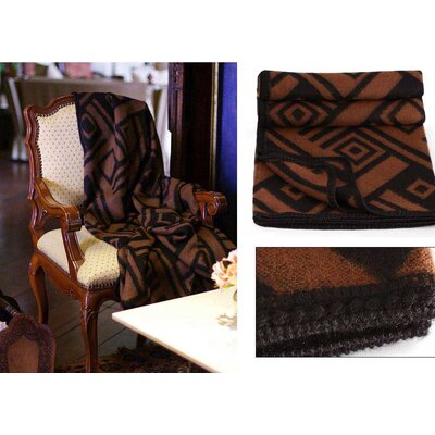 Novica Shadow Labyrinths Throw Blanket