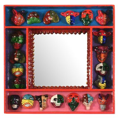 Novica Party of Masks Mirror