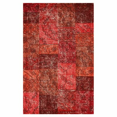 Hides Red Patchwork Area Rug by nuLOOM
