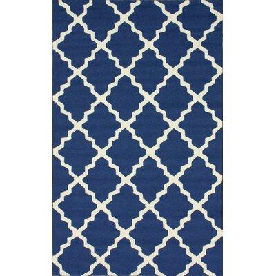 nuLOOM Braxton Navy Blue Lannah Trellis Geometric Area Rug