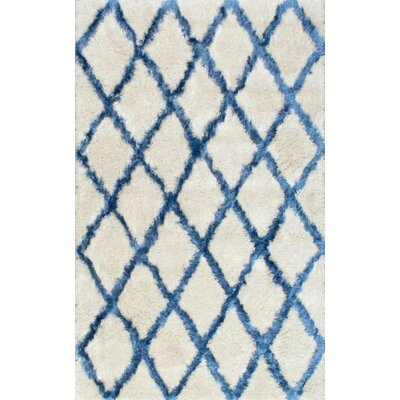 Belia Hand-Tufted Shag White Area Rug by nuLOOM