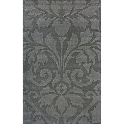 Gradient Damask Grey Area Rug by nuLOOM