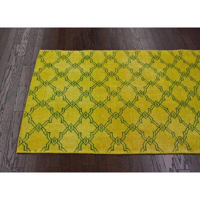 nuLOOM Vintage Overdyed Moroccan Trellis Yellow Rug
