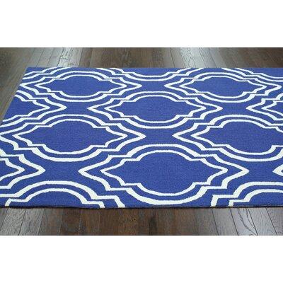 nuLOOM Trellis Blue Moderno Rug