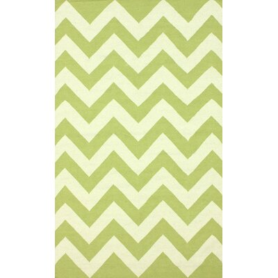 Moderna Green Chevron Area Rug by nuLOOM