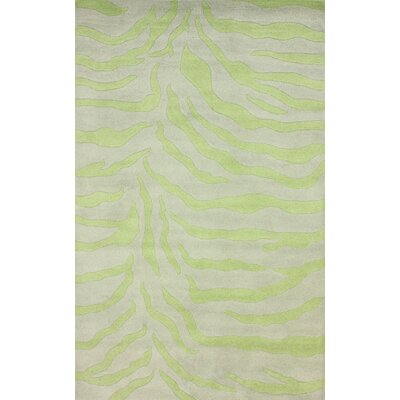 Earth Lime Plush Zebra Rug by nuLOOM