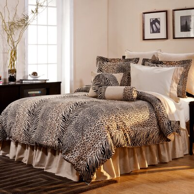 Luxury 8 Piece Animal Print Comforter Set by Pointehaven
