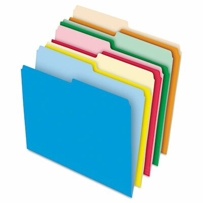 Stretch Tab File Folders, Letter, Assorted, 100/Box by Pendaflex