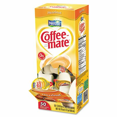 Coffee-mate® Hazelnut Creamer, 50/Box