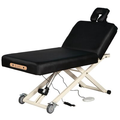 Adjustable Back Rest Electric Lift Massage Table by SierraComfort