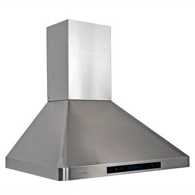 "Cavaliere 30"" 280 - 900 CFM Wall Mount Range Hood in Stainless Steel"