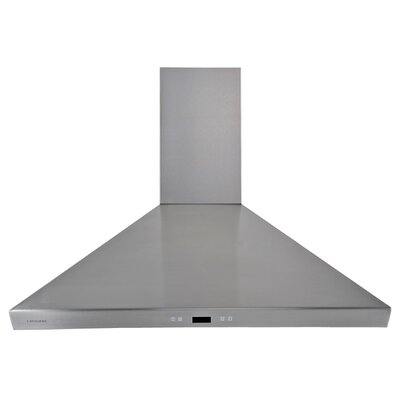 "36"" 900 CFM Ductless Wall Mount Range Hood in Stainless Steel Product Photo"