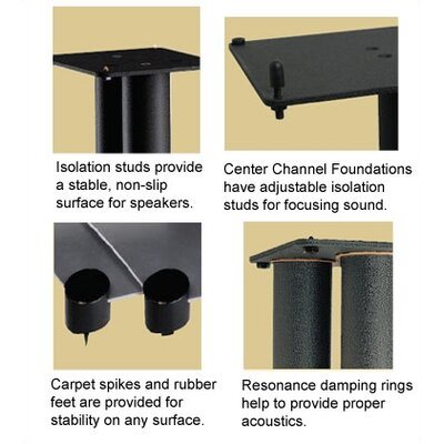 "Sanus Steel Foundations 22"" Center Channel Speaker Stand"