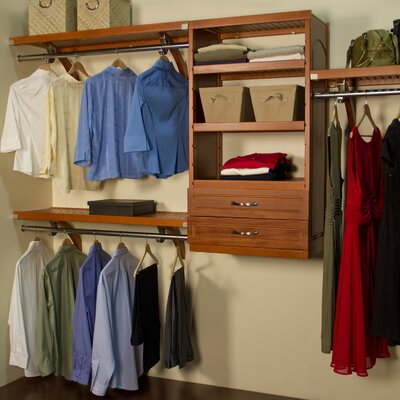 "16"" Deep Woodcrest Closet Organizer Set Product Photo"