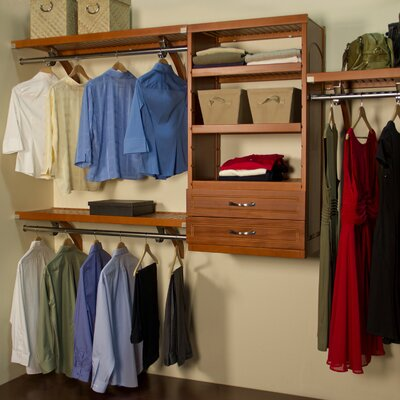 "12"" Deep Woodcrest Closet Organizer Set Product Photo"