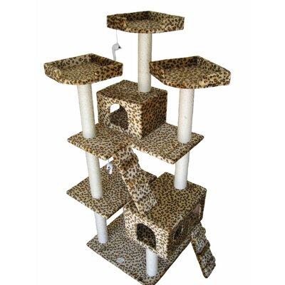 """Go Pet Club 72"""" Leopard Cat Tree"""