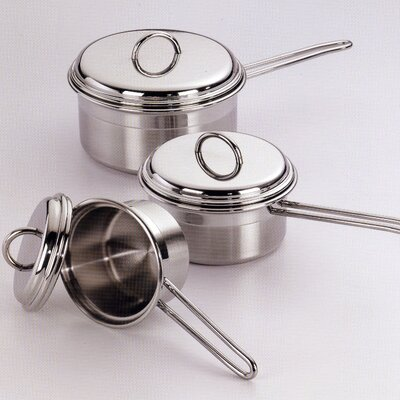 Le Pentole 3-Piece Stainless Steel Cookware Set