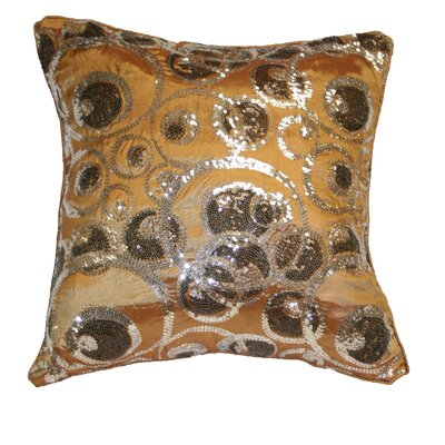 Marvelous Embroidered Sequins Decorative Throw Pillow by Violet Linen