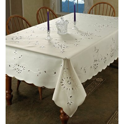 Rivierra Embroidered Tablecloth by Violet Linen