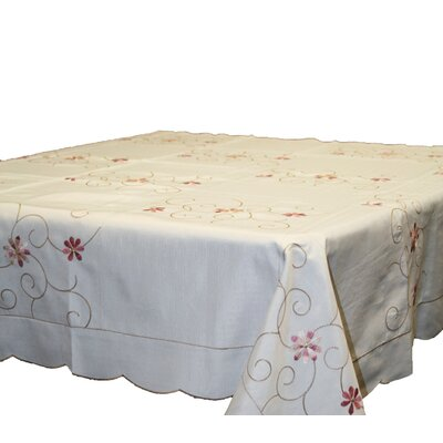 New Orleans Embroidered Round Tablecloth by Violet Linen