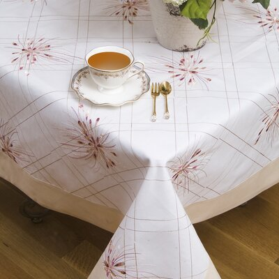 Emerald Embroidered Design Tablecloth by Violet Linen