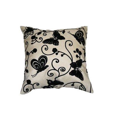 Tivoli Butterfly Flock Decorative Throw Pillow by Violet Linen