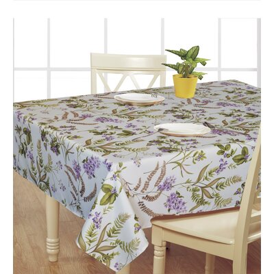 European Hydranges Flower Vintage Design Printed Tablecloth by Violet Linen