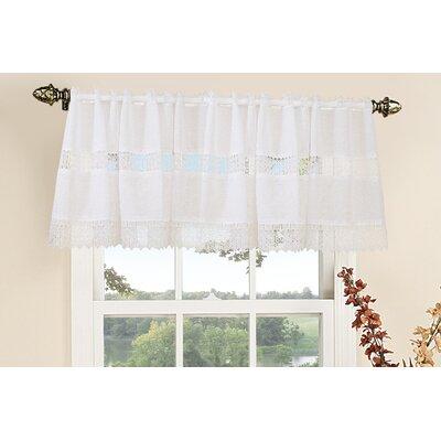 "Violet Linen Treasure Lace Rod Pocket Ruffled 60"" Curtain Valance"