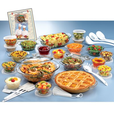 Anchor Hocking Expressions Deluxe Anchor Hocking 50 Piece Bakeware Set