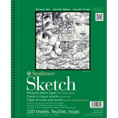 "Strathmore 400 Series 3.5"" x 5"" Wire Bound Recycled Sketch Pads"