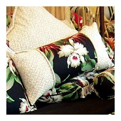 Orchids Cotton Lumbar Pillow by Hanalei
