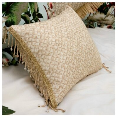 Hanalei Home Basketweave by Hanalei Home Throw Pillow