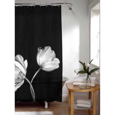 Maytex PEVA Tulip Photoreal Shower Curtain