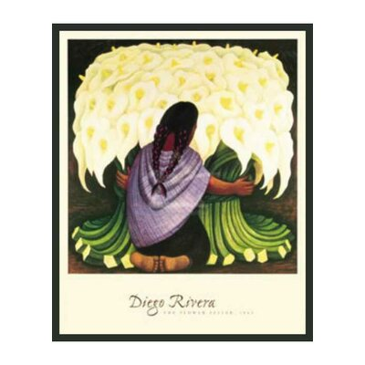 Frames By Mail 'The Flower Seller' by Rivera Framed Painting Print