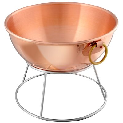 M'passion Large Copper Beating Bowl with Bronze Ring Handle by Mauviel