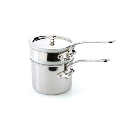 Mauviel M'cook 0.9-qt. Double Boiler with Lid