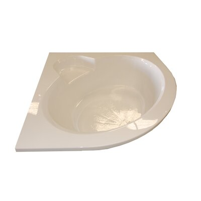 "60"" x 60"" Round Front Soaker Corner Bathtub Product Photo"