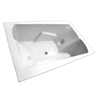 """American Acrylic 71"""" x 48"""" Arm-Rest Salon Spa Soaking Tub"""
