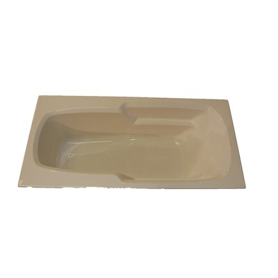 "American Acrylic 66"" x 32"" Massage Arm-Rest Soaking Tub"