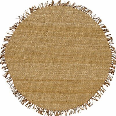 Jute Natural Brown Area Rug by Acura Rugs