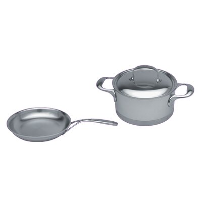 Atlantis 7-Ply Stainless Steel 3-Piece Cookware Set by Demeyere