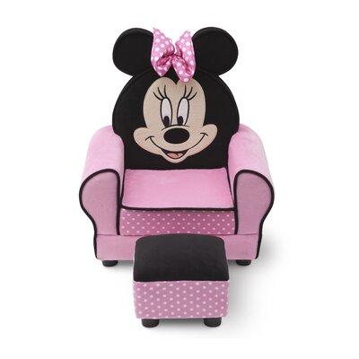Delta Children Minnie Mouse Kids Club Chair Amp Ottoman