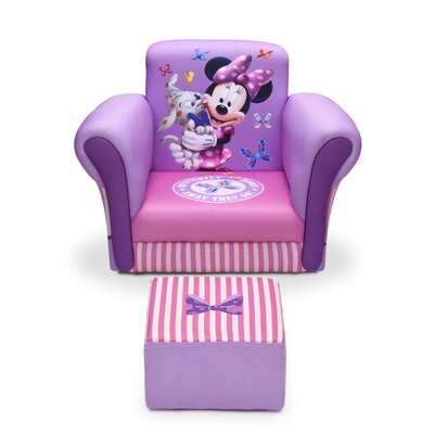 Minnie Mouse Kids Upholstered Chair & Ottoman by Delta Children